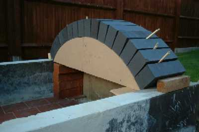 1st Arch of oven roof